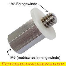 """Gewindeadapter 1/4"""" - M6-Innengewinde (Fotogewinde auf metrisches Gewinde)"""