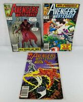 West Coast Avengers #47 Dark Scarlet Witch & White Vision, #55, #63 Free Ship