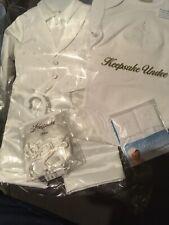 Keepsake Christening Baptism Wedding Cross Set 6-9m Vest Undershirt Shoes Sox