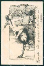 Art Nouveau Angelo Bevilacqua cartolina QT8039