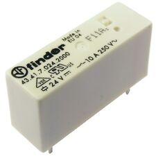 Finder 43.41.7.024.2000 Relais 24V DC 1xUM 10A 2200R 250V AC Relay AgCdO 069236