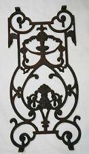 Antique Cast Iron Window Grate Fence Panel Architectural Element Garden Art