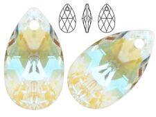 Genuine SWAROVSKI 6106 Pear Shape Crystal Teardrop Pendants, all colours & sizes
