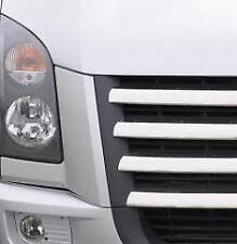 Rejilla FRONTAL CROMADO acento TRIM Juego Cubiertas para encajar Volkswagen Crafter (2006-11)