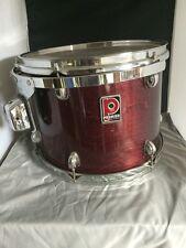 """Vintage Premier Burgundy Wood Grain Drum XPK 14"""" - Made In England"""