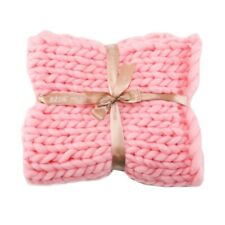 Chunky Knitted Thick Soft Blankets Hand Yarn Bulky Knit Throw Sofa Bed Blankets