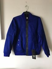 NWT $280 G STAR RAW JUST THE PRODUCT ZENVO TWILL BLUE BOMBER JACKET SIZE L
