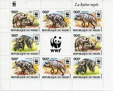 Niger 2015 MNH Striped Hyena WWF 8v M/S Hyenas Wild Animals Fauna