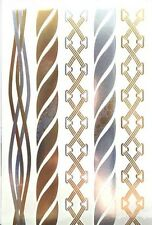 TEMPORARY TATTOO, una volta Tatuaggio, ORO TATTOO/snt-002-b, Oro/Argento Corde