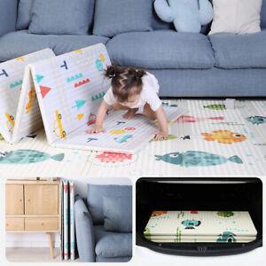 2 Sides Cartoon Baby Mat Kids Crawling Play Pad Soft Foam Foldable Carpet Gift