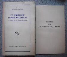 GEORGES BRUNET UN PRÉTENDU TRAITÉ DE PASCAL DISCOURS SUR LES PASSIONS MINUIT