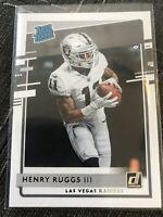 2020 Donruss Henry Ruggs III Rated Rookie Las Vegas Raiders #308 RC