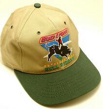 BUD LIGHT PROFESSIONAL BULL RIDERS Snapback Adjustable Cap Hat Tan Green