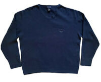 Faconnable Blue V-Neck Sweater Men's XL Perfect Condition, Made In Italy