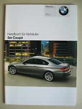 Verkäufer Handbuch BMW 3er Coupe E92 320i 325i 330i d xi xd 335i d Modelle 2007
