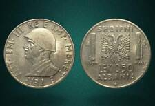 ALBANIA 1939 COIN - 0.50 LEK NOT MAGNETIC - ITALY OCCUPATION - no 129