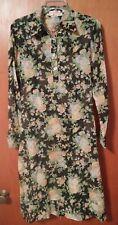 015 Vtg Lord & Taylor Craig 13/14 Floral Dress Sheer Long Sleeve
