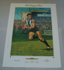 DARREN MILLANE THE RAGING BULL COLLINGWOOD MAGPIES JAMIE COOPER PRINT AFL COA