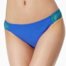 California Waves Crochet-Side Bikini Bottoms Women's Swimsuit Small