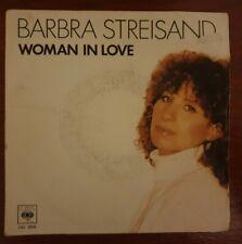 "barbara streisand woman in love 7"" vinyl record, FR version"