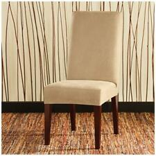 Sure Fit Stretch leather dining room chair long Dining Room Chair birch tan