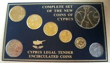 More details for 1983-1991 complete set of the new coins of cyprus bunc cyprus legal tender