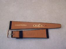 Vintage Accutron Midnight Blue Sued Corfam Copa 20mm Watch Band ( NOS )