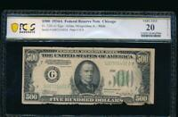 AC 1934A $500 FIVE HUNDRED DOLLAR BILL Chicago PCGS 20 details