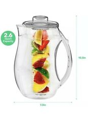 Vermi Fruit Infused Water Pitcher - 2.5 Liter - Red - Bpa Free - New - Free Ship