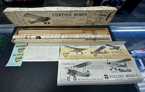 Flyline Models CURTISS ROBIN R/C Model Airplane Kit NEW IN BOX Excellent Cndtion
