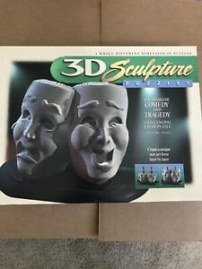 3D Sculpture Puzzle The Masks of Comedy and Tragedy Challenging Layer Puzzle