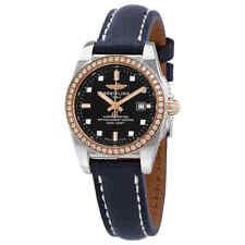 Breitling Galactic Automático Diamante Dial Negro Reloj De Señoras C72348531B1X1
