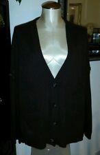 MICHAEL KORS 100% Cashmere Dark Chocolate Brown Boyfriend's Cardigan Sweater - L