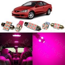 9x Pink LED Interior Lights Package Kit for 2002-2006 Acura RSX +Tool AR1P