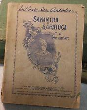 SAMANTHA at SARATOGA Book 1887 SOFTCOVER Josiah Allen's WIFE Paperback Farm Lib
