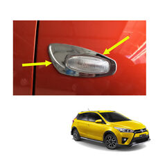 Fits Toyota Yaris Hatchback 14 2015 - 17 Side Lamp LH RH Light Cover Chrome Trim