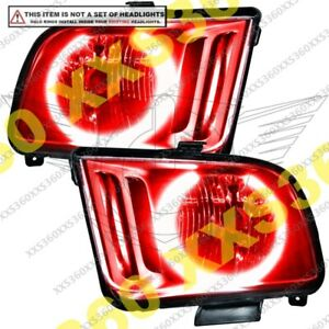 ORACLE Headlight HALO RING KIT for Ford Mustang 05-09 RED LED Angel Eyes