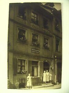 Alte Postkarte Bamberg, Judenstraße 4, Bäckerei Konrad Wellein, ungelaufen