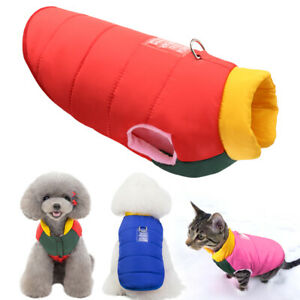 Warm Winter Puppy Dog Coat Clothes Qualid Sewing Pet Jacket Waterproof Chihuahua