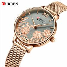Reloj de pulsera Reloj Curren relojes de oro de lujo elegante Para mujeres Rosa Cuadrante para niñas