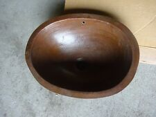 Hammered Copper Oval Lavatory Sink Basin Undermount Small Heavy Duty Bathroom