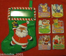 CHRISTMAS SANTA STOCKING GIFT SET *NEW* 6 BOARD BOOK LOT CHILD'S PARTY FAVORS