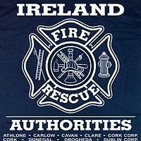 Ireland Fire & Rescue Firefighter Irish T-shirt  L