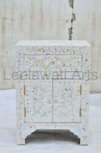 Mother of pearl Bedside 2 Door 1 Drawer
