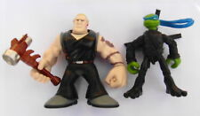 Playmates 2007 TMNT Mini Mutants Leonardo v Hun Teenage Mutant Ninja Turtles