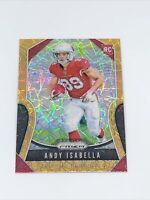 2019 Panini Prizm Gold Lazer Rookie #349 Andy Isabella Arizona Cardinals RC