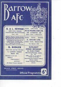 Barrow v Southampton 1966/67 FA Cup 3rd Round