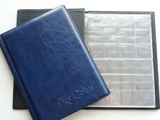 Coin Album Storage Book 108 big and small  Coins Folder   BLUE