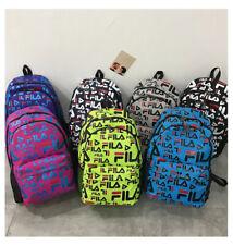 NEW FILA Outdoor Travel Backpack Laptop Hiking Canvas Rucksack School Bag