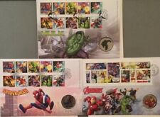 2019 - 3 x Marvel-Avengers Limited Edition Medal Cover-Hulk Ironman Spiderman
